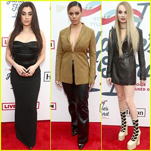 Lauren Jauregui, Dinah Jane, & Kim Petras Team Up for Steven Tyler's Grammys 2019 Viewing Party!