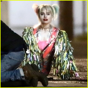 Margot Robbie Jumps Out of a Truck for 'Birds of Prey' Scene