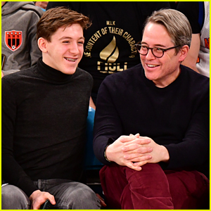 Matthew Broderick Sits Courtside with Son James Wilkie at Knicks Game!