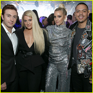 Ashlee Simpson & Meghan Trainor Have a Double Date Night at Delta's Grammys Party!