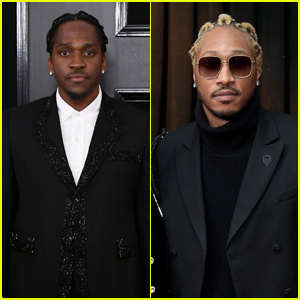 Pusha T & Future Hit the Red Carpet at Grammys 2019