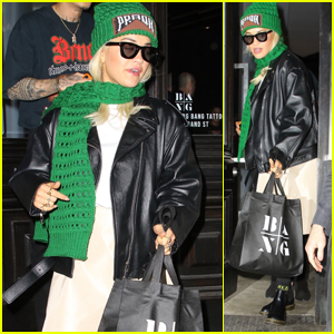 Rita Ora Stops By the Tattoo Shop During NYFW 2019!