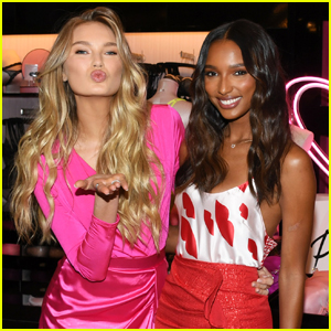 c5d671940b Romee Strijd   Jasmine Tookes Launch Victoria Secret s Valentine s Day ...