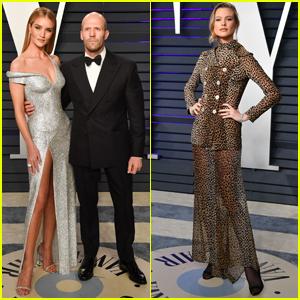 61b35aab8d Rosie Huntington Whiteley   Jason Statham Join Behati Prinsloo at Vanity  Fair Oscars Party