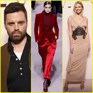 Sebastian Stan & Karlie Kloss Watch Gigi Hadid Walk in Tom Ford's NYFW Show!