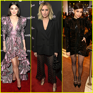 Hailee Steinfeld Joins Sofia Carson & Ashley Tisdale at Spotify's Best New Artist Event