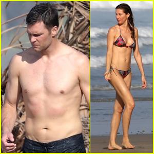 Tom Brady & Gisele Bundchen Bare Their Hot Beach Bodies in