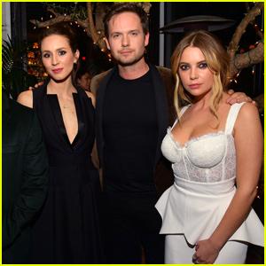 Troian Bellisario & Patrick J Adams Join Ashley Benson at Vanity Fair's Pre-Oscar Party!