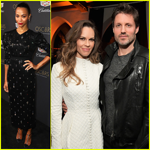Zoe Saldana, Hilary Swank & More Step Out Cadillac's Oscars Week Celebration!