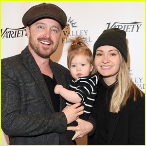 Aaron Paul Joined By Wife Lauren & Daughter Story at Sun Valley Film Fest!