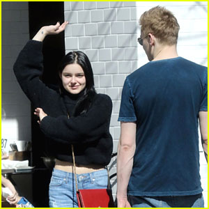 Ariel Winter Does a Happy Dance After Lunch with Levi Meaden