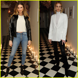 Behati Prinsloo & Rosie Huntington-Whiteley Step Out For '7 For All Mankind' Launch!