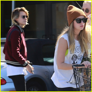 Cara Delevingne & Ashley Benson Spend the Afternoon Grocery Shopping