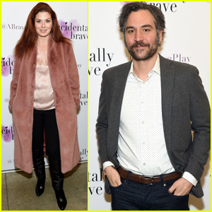 Debra Messing & Josh Radnor Celebrate 'Accidentally Brave' Opening Night