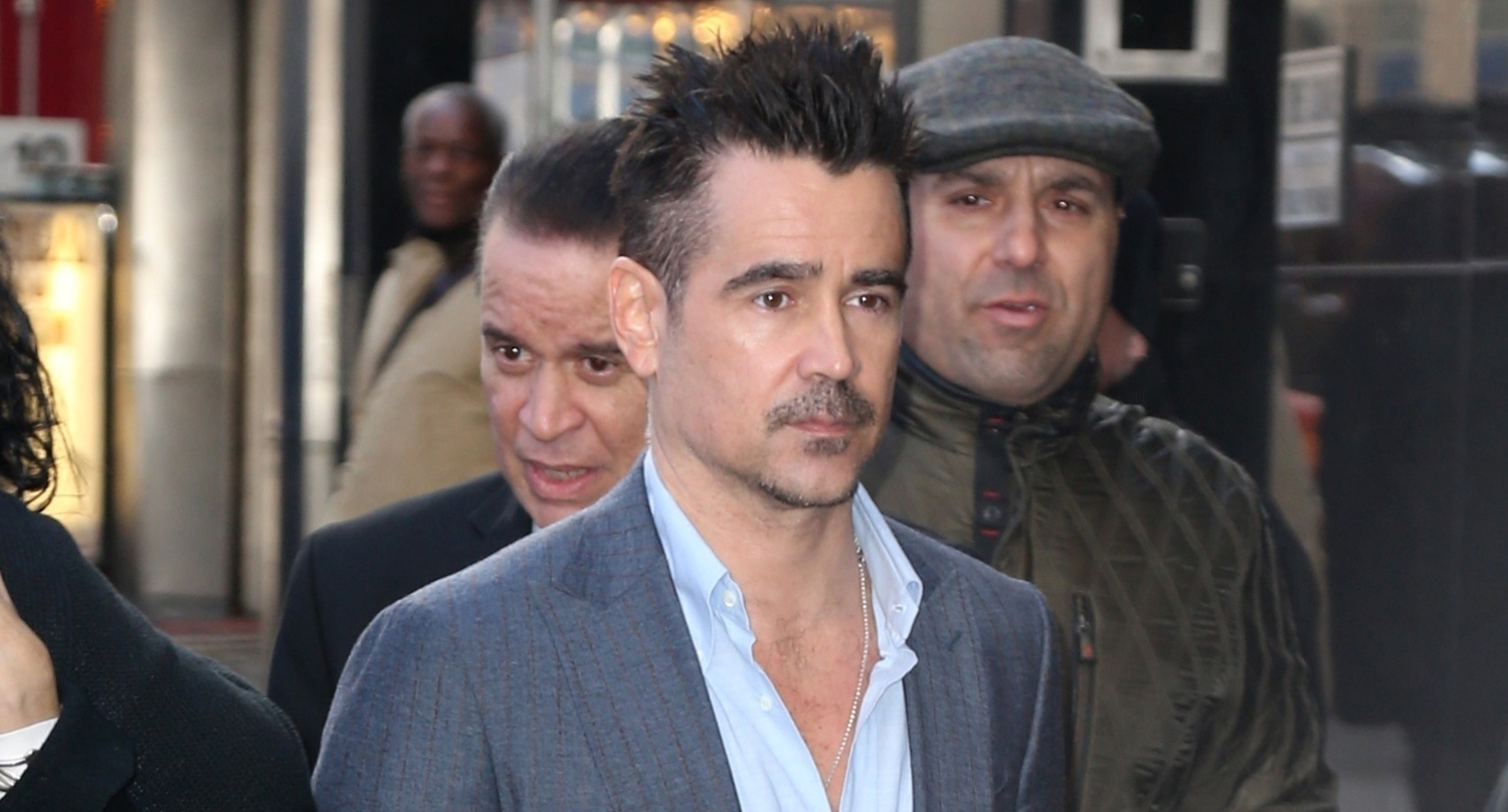 7c1e8e31f Colin Farrell Steps Out to Promote  Dumbo  in NYC