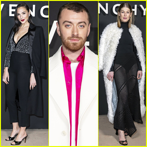 Gal Gadot & Sam Smith Sit Front Row at Givenchy Paris Show!