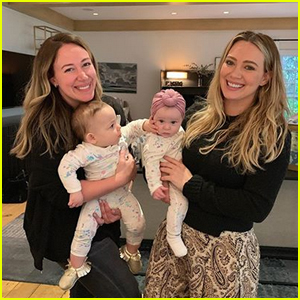 Hilary & Haylie Duff Pose with Their Daughters in Sweet Photo!