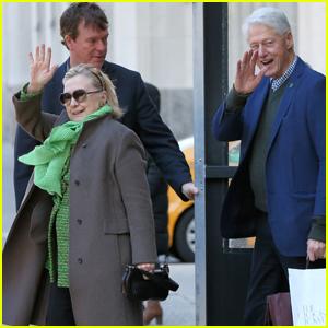 Hillary & Bill Clinton Visit Their Grandkids on St. Patrick's Day!