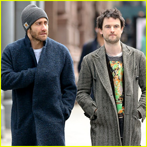 Jake Gyllenhaal & Tom Sturridge Hang Out During a Break From Their Play