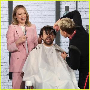 Jason Sudeikis Gets Haircut From Olivia Wilde & Ellen DeGeneres - Watch Here!