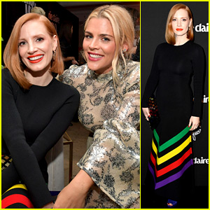 Jessica Chastain & Busy Philipps Hang Out Together at Marie Claire's Change Makers Event