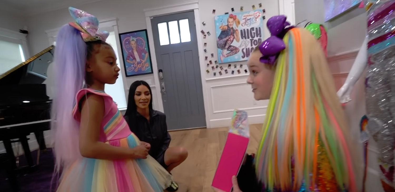9fbfa780d14d5 Kim Kardashian Enlists JoJo Siwa to Babysit North West!