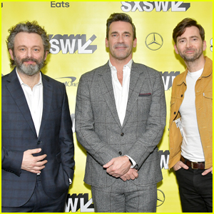 Jon Hamm Joins Michael Sheen & David Tennant at 'Good Omens' Premiere at SXSW