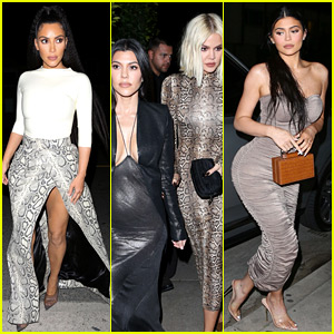 Kim, Kourtney & Khloe Kardashian Grab Dinner with Kylie Jenner in L.A.