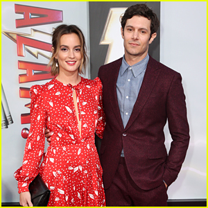 Leighton Meester Supports Husband Adam Brody at 'Shazam!'