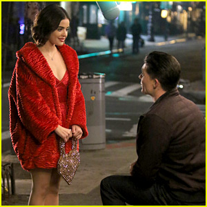 Lucy Hale Films a Proposal Scene for 'Katy Keene' Pilot