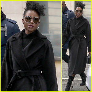 Lupita Nyong'o Visits BBC Radio 2 While Promoting 'Us' in London