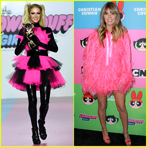 Paris Hilton Walks in Christian Cowan's 'Powerpuff Girls' Inspired Fashion Show, Heidi Klum Sits Front Row