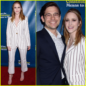 Rachel Brosnahan & Husband Jason Ralph Step Out for 'What the Constitution Means to Me' Opening Night