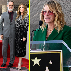 Rita Wilson Gets Support From Tom Hanks & Julia Roberts at Hollywood Walk of Fame Ceremony!