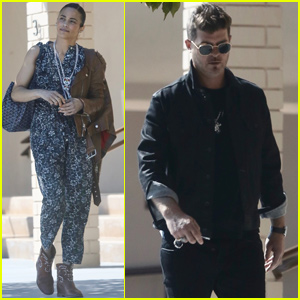 Robin Thicke Reunites With Ex Paula Patton In Malibu