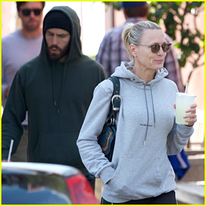 Robin Wright & Husband Clement Giraudet Photographed in Rare Spotting