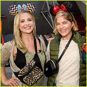 Selma Blair & Sarah Michelle Gellar Celebrate 20 Years of Friendship at Disney!