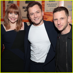 Taron Egerton Joins Co-Stars Jamie Bell & Bryce Dallas Howard at 'Rocketman' Screening