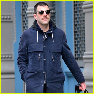 Newly Single Zachary Quinto Spotted On a Walk with His Dog
