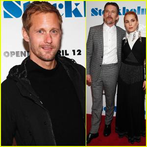 Alexander Skarsgard Joins Ethan Hawke & Noomi Rapace at 'Stockholm' Premiere