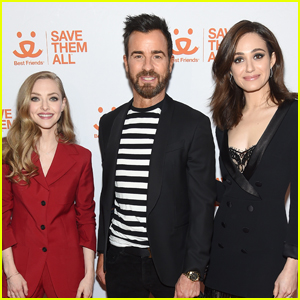 Justin Theroux Joins Amanda Seyfried & Emmy Rossum at Best Friends Save Them All Benefit