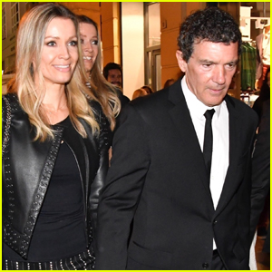 Antonio Banderas & Girlfriend Nicole Kimpel Step Out for Holy Week in Spain