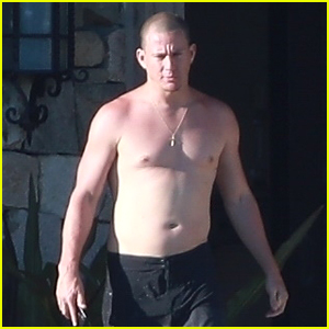 Channing Tatum Goes Shirtless During Vacation with Another Big Star!