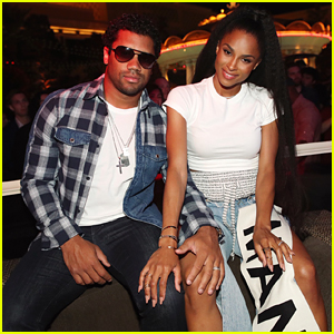 Ciara's Husband Russell Wilson Cheers Her On in Vegas!