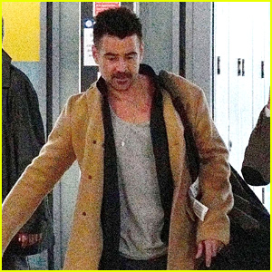 Colin Farrell Arrives in London After Promoting 'Dumbo' in LA