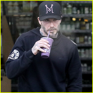 David Beckham Shows Off His Sports Car While Getting in a Morning Workout