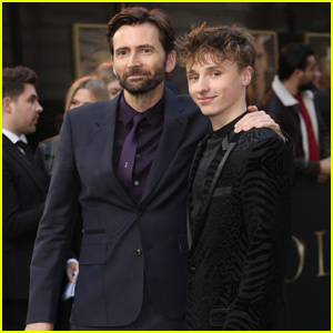David Tennant Supports Son Ty at 'Tolkien' Premiere in London
