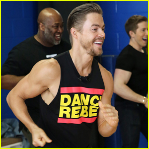 Derek Hough Bares Biceps at Zumba Class in NYC!