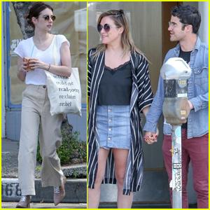 Emma Roberts Joins Darren Criss & Wife Mia Swier for Breakfast