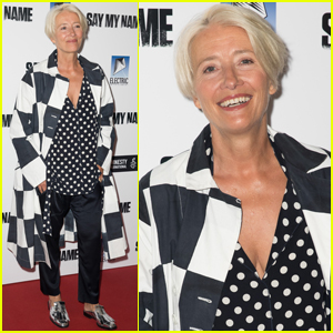 Emma Thompson Steps Out for 'Say My Name' Gala Screening in London